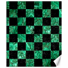 Square1 Black Marble & Green Marble Canvas 8  X 10  by trendistuff