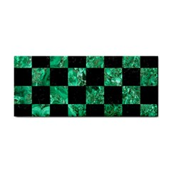 Square1 Black Marble & Green Marble Hand Towel by trendistuff