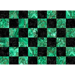 Square1 Black Marble & Green Marble Birthday Cake 3d Greeting Card (7x5) by trendistuff