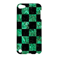 Square1 Black Marble & Green Marble Apple Ipod Touch 5 Hardshell Case by trendistuff