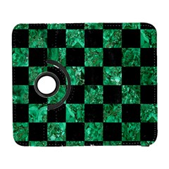 Square1 Black Marble & Green Marble Samsung Galaxy S  Iii Flip 360 Case by trendistuff