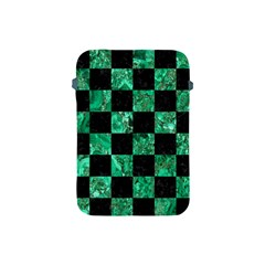 Square1 Black Marble & Green Marble Apple Ipad Mini Protective Soft Case by trendistuff