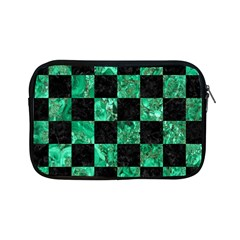 Square1 Black Marble & Green Marble Apple Ipad Mini Zipper Case by trendistuff
