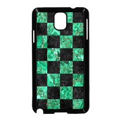 Square1 Black Marble & Green Marble Samsung Galaxy Note 3 Neo Hardshell Case (black) by trendistuff