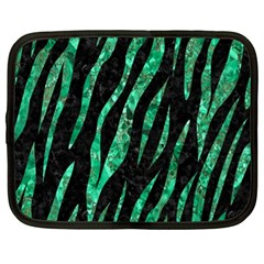 Skin3 Black Marble & Green Marble (r) Netbook Case (xl) by trendistuff