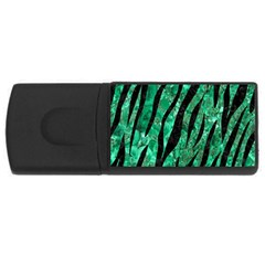 Skin3 Black Marble & Green Marble Usb Flash Drive Rectangular (4 Gb) by trendistuff
