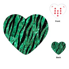 Skin3 Black Marble & Green Marble Playing Cards (heart)