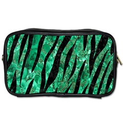 Skin3 Black Marble & Green Marble Toiletries Bag (two Sides) by trendistuff