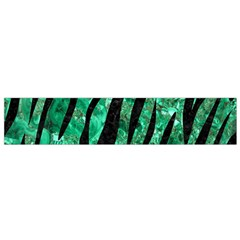 Skin3 Black Marble & Green Marble Flano Scarf (small) by trendistuff