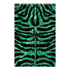 Skin2 Black Marble & Green Marble (r) Shower Curtain 48  X 72  (small) by trendistuff