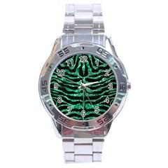Skin2 Black Marble & Green Marble (r) Stainless Steel Analogue Watch by trendistuff