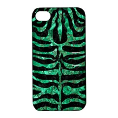 Skin2 Black Marble & Green Marble (r) Apple Iphone 4/4s Hardshell Case With Stand by trendistuff