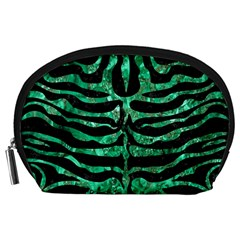 Skin2 Black Marble & Green Marble (r) Accessory Pouch (large)