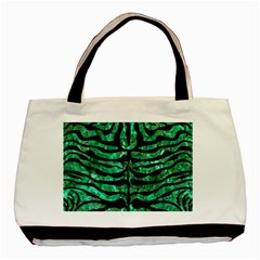 Skin2 Black Marble & Green Marble Basic Tote Bag (two Sides) by trendistuff