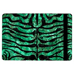 Skin2 Black Marble & Green Marble Apple Ipad Air Flip Case by trendistuff