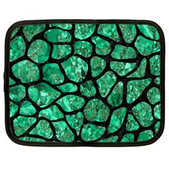 Skin1 Black Marble & Green Marble (r) Netbook Case (xxl) by trendistuff