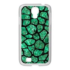 Skin1 Black Marble & Green Marble (r) Samsung Galaxy S4 I9500/ I9505 Case (white) by trendistuff
