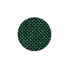 Scales3 Black Marble & Green Marble (r) Golf Ball Marker (4 Pack) by trendistuff