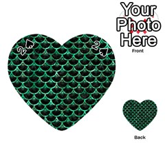 Scales3 Black Marble & Green Marble (r) Playing Cards 54 (heart)