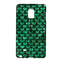 Scales3 Black Marble & Green Marble Samsung Galaxy Note Edge Hardshell Case by trendistuff