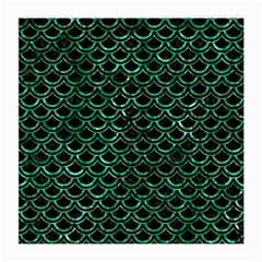 Scales2 Black Marble & Green Marble (r) Medium Glasses Cloth