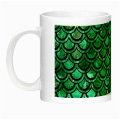 Scales2 Black Marble & Green Marble Night Luminous Mug by trendistuff