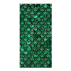 Scales2 Black Marble & Green Marble Shower Curtain 36  X 72  (stall) by trendistuff