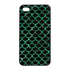 Scales1 Black Marble & Green Marble (r) Apple Iphone 4/4s Seamless Case (black) by trendistuff