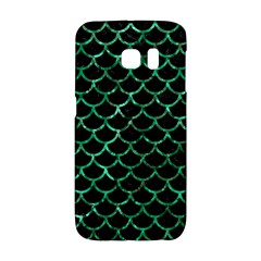Scales1 Black Marble & Green Marble (r) Samsung Galaxy S6 Edge Hardshell Case by trendistuff