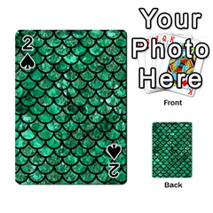 Scales1 Black Marble & Green Marble Playing Cards 54 Designs by trendistuff