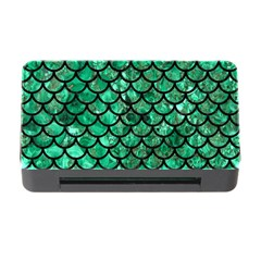 Scales1 Black Marble & Green Marble Memory Card Reader With Cf by trendistuff