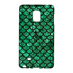Scales1 Black Marble & Green Marble Samsung Galaxy Note Edge Hardshell Case by trendistuff