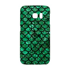 Scales1 Black Marble & Green Marble Samsung Galaxy S6 Edge Hardshell Case by trendistuff