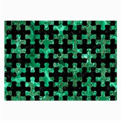 Puzzle1 Black Marble & Green Marble Large Glasses Cloth (2 Sides) by trendistuff