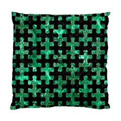 Puzzle1 Black Marble & Green Marble Standard Cushion Case (two Sides) by trendistuff