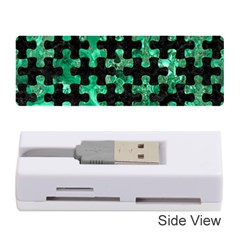 Puzzle1 Black Marble & Green Marble Memory Card Reader (stick) by trendistuff
