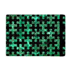 Puzzle1 Black Marble & Green Marble Apple Ipad Mini Flip Case by trendistuff
