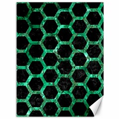 Hexagon2 Black Marble & Green Marble (r) Canvas 36  X 48  by trendistuff