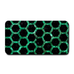 Hexagon2 Black Marble & Green Marble (r) Medium Bar Mat by trendistuff