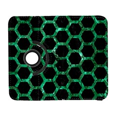 Hexagon2 Black Marble & Green Marble (r) Samsung Galaxy S  Iii Flip 360 Case by trendistuff