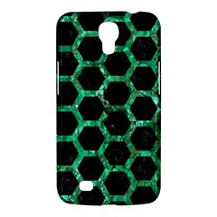 Hexagon2 Black Marble & Green Marble (r) Samsung Galaxy Mega 6 3  I9200 Hardshell Case by trendistuff