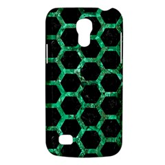 Hexagon2 Black Marble & Green Marble (r) Samsung Galaxy S4 Mini (gt I9190) Hardshell Case  by trendistuff