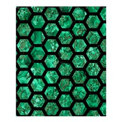 Hexagon2 Black Marble & Green Marble Shower Curtain 60  X 72  (medium) by trendistuff