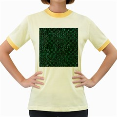 HXG1 BK-GR MARBLE (R) Women s Fitted Ringer T-Shirts by trendistuff