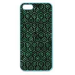 Hexagon1 Black Marble & Green Marble (r) Apple Seamless Iphone 5 Case (color) by trendistuff