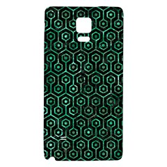 Hexagon1 Black Marble & Green Marble (r) Samsung Note 4 Hardshell Back Case by trendistuff