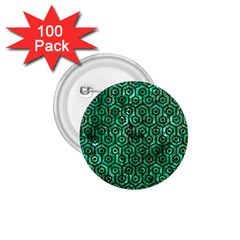 Hexagon1 Black Marble & Green Marble 1 75  Button (100 Pack)  by trendistuff