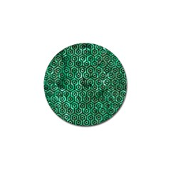 Hexagon1 Black Marble & Green Marble Golf Ball Marker (4 Pack) by trendistuff