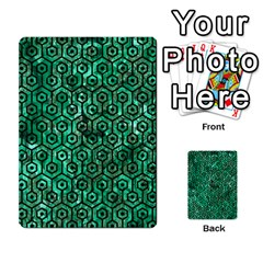 Hexagon1 Black Marble & Green Marble Multi Purpose Cards (rectangle) by trendistuff