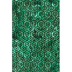 Hexagon1 Black Marble & Green Marble 5 5  X 8 5  Notebook by trendistuff